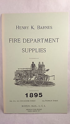 1977 Vintage Reproduction of Henry Barnes Fire Department Supplies Catalog 1895