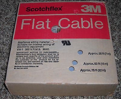 3M ScotchFlex 3469/40 Flat Cable 28AWG 40 Conductor 100ft NOS New Old Stock