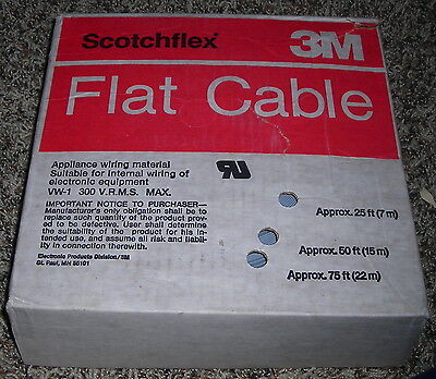 3M ScotchFlex 3469/40 Flat Cable 28AWG 40 Conductor ~60ft