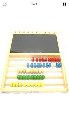Childrens Wooden Abacus & Chalkboard Counting Frame Educational Toy (1373239)