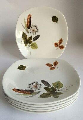 Vintage Midwinter Stylecraft Riverside Side Plates X 6 Designed by John Russel