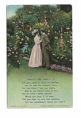 Vintage Unused Bamforth Postcard Song Card - Would You Care (1)