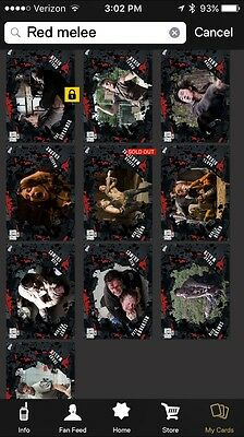 Topps Walking Dead Card Trader Red Melee Set W/ Award