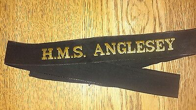 Naval Cap Tallie H.m.s Anglesey