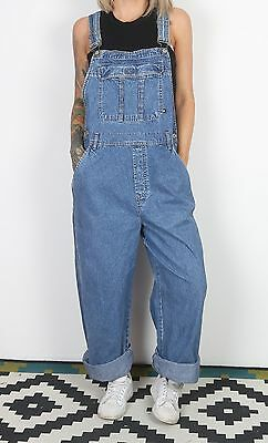 Dungarees UK 18 XXL Fitted  Oversized 16 XL TALL Denim Blue    (23K)