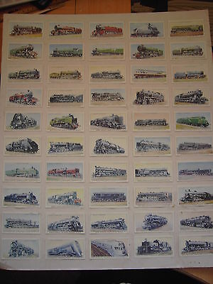 """Super Wills Cigarette Cards """"railway Engines"""" Four Full Sets (See Discription"""