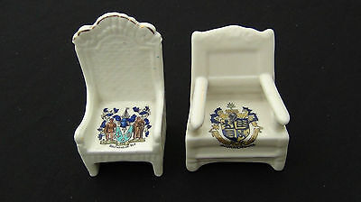 Crested China Chairs - Bournemouth & Southend
