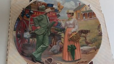 Knowles Oklahoma I Cain't Say No Mort Kunstler 1986 3rd Issue 17806A China Plate