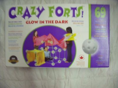 Crazy Forts 69 Piece Set Glow in the Dark  New, Box has been opened  L3