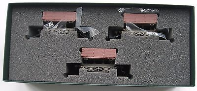 On30 O gauge Bachmann Spectrum 3 x wood side dump cars item no 29801