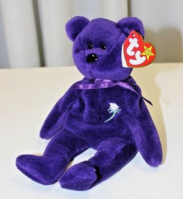 9248267345f RARE Authentic 1st Edition Princess Diana 1997 Retired Beanie Baby PVC  Pellets
