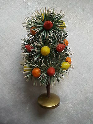 True Vintage Kitsch Retro 'Newberry Fruits' Early Plastic Tree Old Shop Display