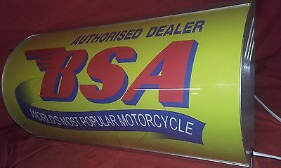 BSA,bike,lightup,sign,illuminated,classic,display,mancave,garage,shed,motorcycle