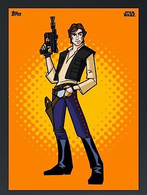 GRAPHIC GALAXY ORANGE HAN SOLO Topps Star Wars Card Trader Digital