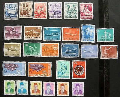 Indonesia 1957 to 1980: Mint (MNH) Stamp Sets