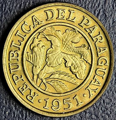 1951 Paraguay 25 Centimos  Uncirculated