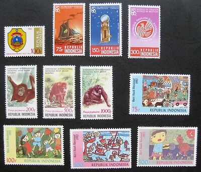 Indonesia 1983 to 1992: Mint (MNH) Stamp Sets