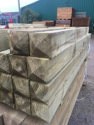 6x6 8' Long Wooden Gate Posts