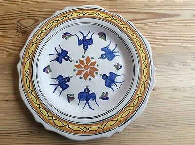 french hand painted quimper plate