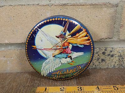 Superb Mother Goose Witch Halloween Toffee Tin c1920s