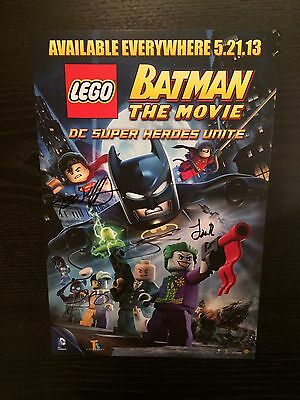 Comic Con Lego Batman The Movie Signed Poster