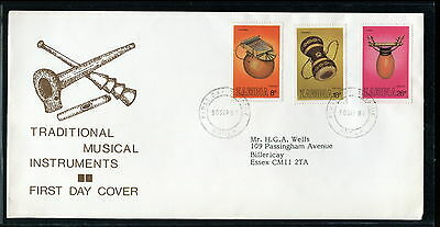 1981 Zambia FDC. Traditional Musical Instruments. First Day Cover. Music