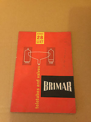 Vintage Brimar Teletubes and Valves Book Number 28 List
