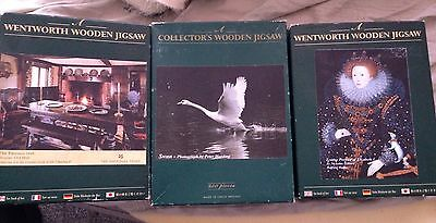 Wentworth Wooden Jigsaws X 3 Collection Job Lot 250Pc
