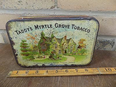 Scarce Size Taddy Myrtle Grove Tobacco Tin c1900s - Sir Walter Raleigh