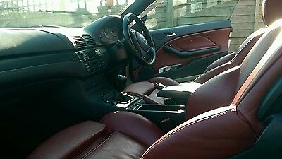 Bmw E46 Red leather seats and door cards interior
