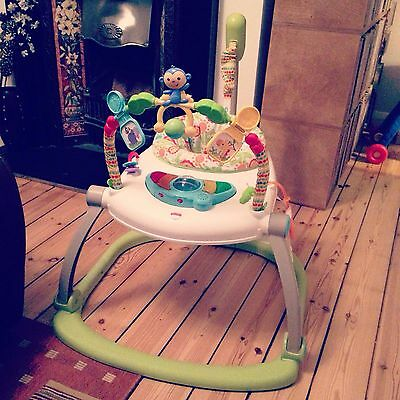 Fisher Price Jumperoo Rainforest Space Saver with box and instructions