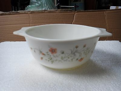 """Pyrex vintage """"Emily"""" large / deep casserole dish with lid"""