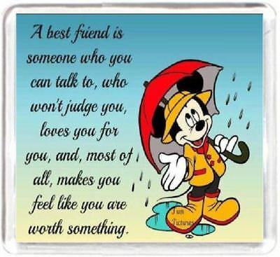 Fridge Magnet Friend Friendship Talk Judge Accept Worth Mickey Mouse