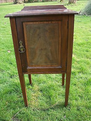 Antique  Bedside Cupboard  - Edwardian French Chic Hall Victorian Deco