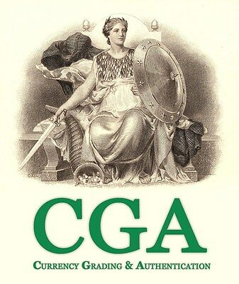 5 Notes Graded By CGA And Returned In 14 Days Guaranteed. CGA Est. 1998