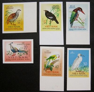 Vietnam (North) 1963: Birds set Imperforate - RARE item