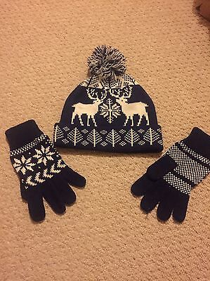 Men's Nordic Knitted Hat And Gloves