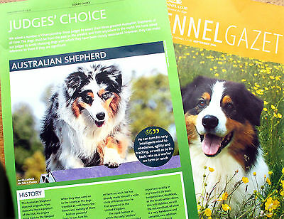 AUSTRALIAN SHEPHERD DOG  KENNEL CLIPPINGS 2000s inc Judges Choice '09 x 40