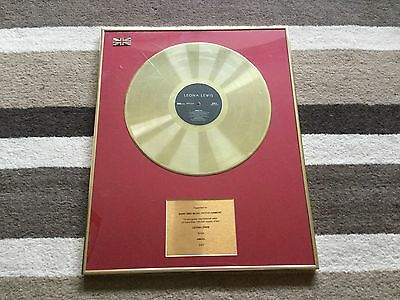 Leona Lewis Gold Lp Disc. Angel. 2007. Framed.