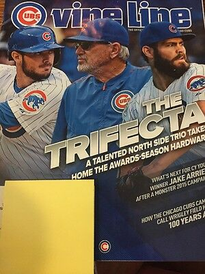 Chicago Cubs January 2016 Vine Line Maddon; Bryant And Arrieta Cover