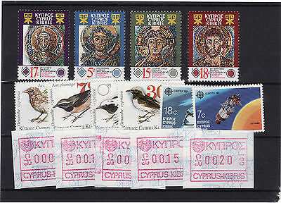 Cyprus - 1991 3 Sets Unmounted Mint