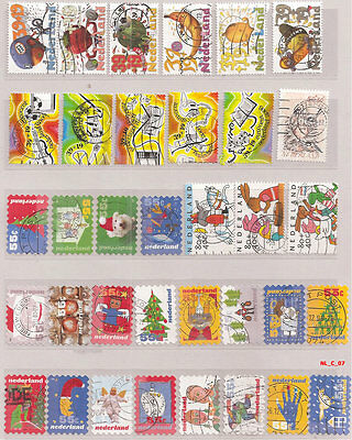 Netherlands lot of 100+ differents stamps  (Lot C) --- Niederlande Holland