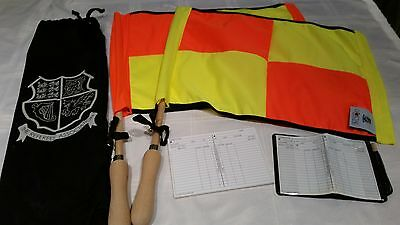 Linesman's flags/Referee notebook and bag