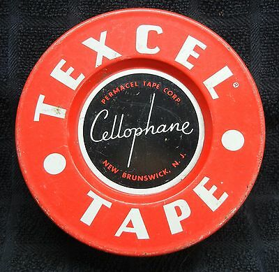 Vintage Collectible Texcel Cellophane Tape Tin Can Excellent Advertising!