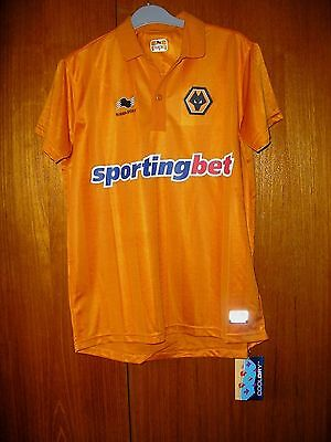 Wolves Football Shirt Burrda Home size XS 34/36 brand new with tag 2012/13