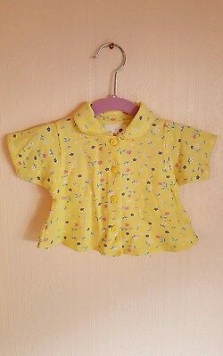 Vintage baby floral pastel retro polo shirt 0-3 months