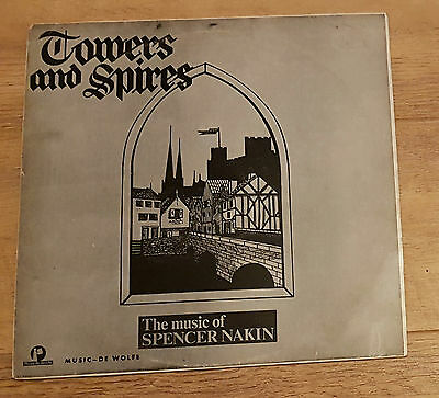 Library Music De Wolfe Towers and Spires 1968 Spencer Nakin NrMint Vinyl LP 1968