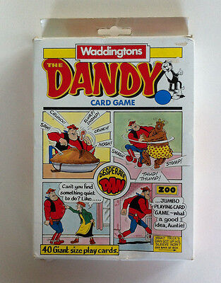 Vintage Waddingtons Dandy Card Game D.C Thompson 1989 GREAT CONDITION