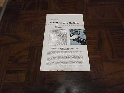 USED 1956  Cadillac Owner's Manual Glove Box Book