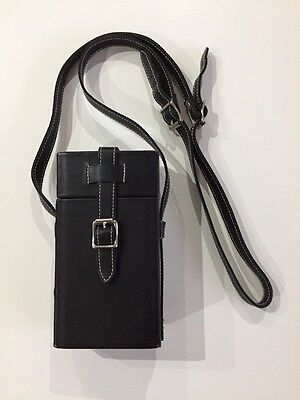Ettinger London Black Leather Twin Travel Flask Set - Limited Edition